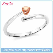 new products 2016 open heart adjustable rings silver lacie heart 925 silver rings