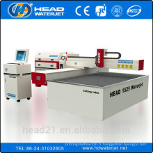 Chine cnc haute vitesse de jet d'eau de coupe prix machine prix ciment board prix