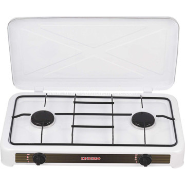 Manual Igniton Golden Double Burner Gas Stove