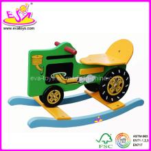 Cheval à bascule en bois, randonnée enfant sur jouet (W16D002)