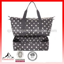 botón bolsa de viaje plegable de dos pisos, bolso de playa de lona, bolsas de lona durrel HCBC0001