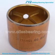 BIMETAL KING PIN BUSH,ADP. No.180345M1 BUSHING,35.0X31.6X37.97 Item Code 24432055/No.WB004 BEARING