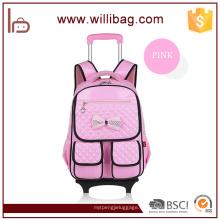 Abnehmbarer Kinderarbeit-einsparung Rad-Rucksack Childern-Schullaufkatzen-Tasche für Mädchen