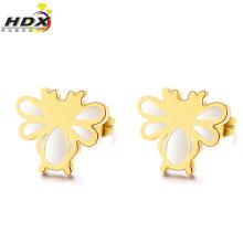 Acier inoxydable Boucles d'oreilles à la libellule Bijoux à la mode Pendentifs en or