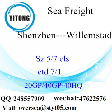 Shenzhen Port Sea Freight Shipping Para Willemstad