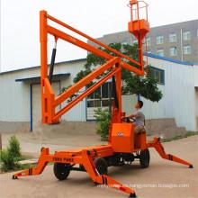 Elevador de brazo hidráulico montado en vehículo de 8 m