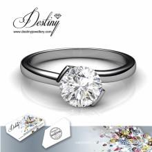 Destino joyería cristal de Swarovski Huggy anillo brillante