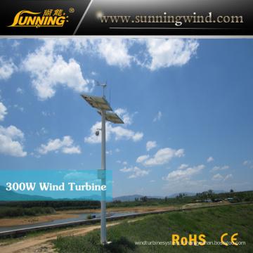 Générateur de turbine de vent de surveillance de camping de Sunning 300W, rendement maximum 350W