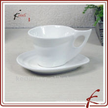 Wholesale White Ceramic Porcelain Coffee Set coffee Cup And Saucer