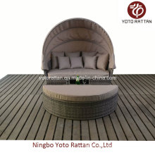 Outdoor Rattan Big Daybed in Brushed Grey (1405)