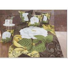 China 100% poliéster tecido 3d impresso 125gsm 3 peças bedsheet / conjuntos de cama / microfiber edredão