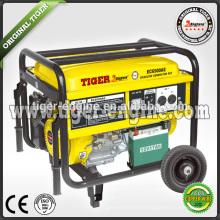 TIGRE (CHINE) Prix concurrentiel 110V 220V Type monophasé Générateur d'essence 5.5kw