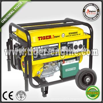 Tiger (Chine) faible bruit de bonne qualité 5kw générateur d'essence