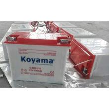 Batería 170AH de la placa tubular del triciclo eléctrico de Koyama 12V