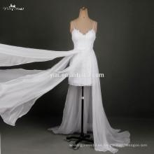 RSW790 correas de espagueti alto alto de encaje de espalda Sexy Wedding First Night Dresses