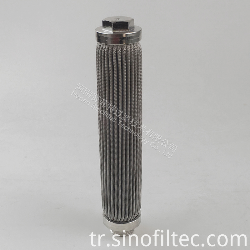 SS316L Sintered Fiber Medium Pleated Element