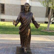 garten im freien skulptur metall handwerk jesus messing skulptur