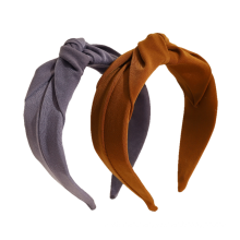 Korean Style Fabric Fashion Solid Color Headband Middle Knot Hairband Women Girl Hair Accessories