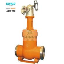 Fonctionnement de l'engrenage de la vanne de la garniture de pression