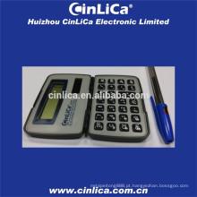 Dois poder forma pequena calculadora de bolso preto com tampa