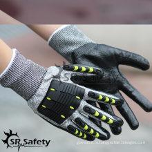 SRSAFETY высококачественные ударопрочные механические перчатки TPR