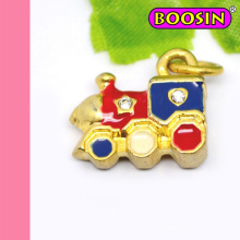 En gros Mini Train Or Bracelet Charm # 17596