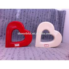 Decoración casera preciosa ornamento de cerámica del corazón