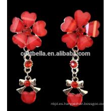 Collar nupcial del collar del pendiente de la joyería de la boda del collar rojo hermoso de las mujeres