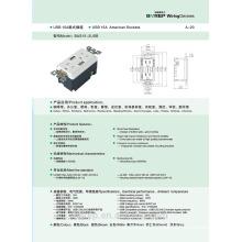 15A 2 prise d'interface usb prise murale GFCI USB