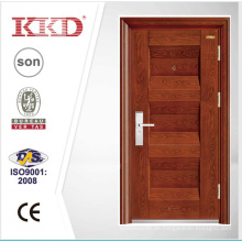 Neue Mosa Matt Farbe Stahl Sicherheit Tür KKD-321 mit Stahl konvexen geschnitzt