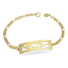Neue Mode Customizeable Saudi Gold Armband Preis Vintage Charme Kette Link Armband