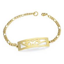 Nueva Moda Customizeable Saudi Gold Pulsera Precio Vintage Charm Chain Chain Link Pulsera