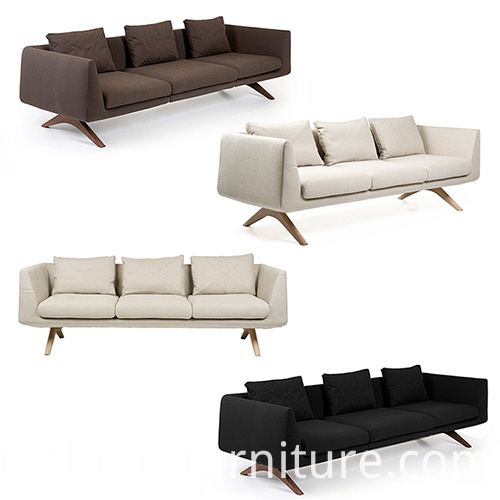 hepburn fixed 3-seater sofa