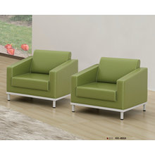 Green Color Leather Office Sofa Chair (8553)