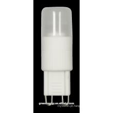 PC cerâmico americano europeu do CE da luz de bulbo do diodo emissor de luz de 2W 3W 360 graus G9