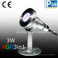 Proyector subacuático del RGB 3W LED para la iluminación de la piscina (JP-95316)