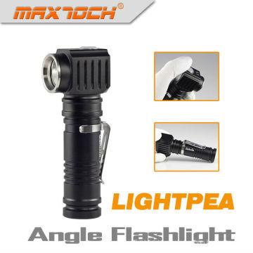Clip de acero inoxidable Maxtoch LIGHTPEA 18650 impermeable LED luz Vertical en el Stand de linterna