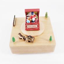FQ marca pop famoso proveedor de la boda juguete casa agradable manivela caja de música de madera