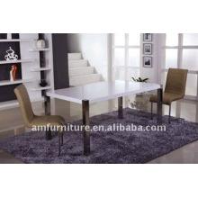 mesa de jantar branca de alto brilho