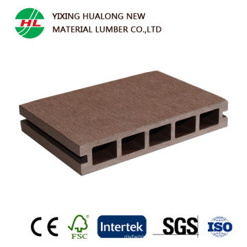 Revestimento exterior composto plástico de madeira do Decking oco de WPC
