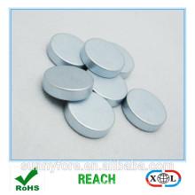 aimant de magnétisation radial rond plaqué zinc