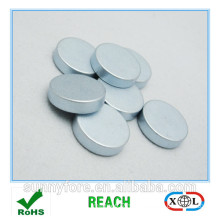 zinc plated round radial magnetization magnet