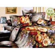 Tissu de coton literie 100 % Fashion fleur tissu de qualité supérieure