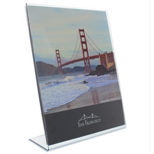Acrylique Single Slant Back Design Clear Sign Holder