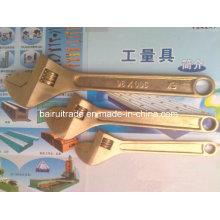 Herramientas no Sparkinig Llave de seguridad Llave de cobre Llave ajustable de latón