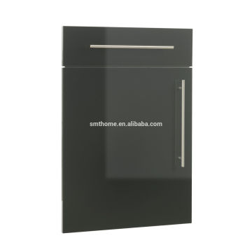 BLACK COLOR EUROPEAN STYLE HIGH GLOSS PVC SLAB KITCHEN CABINET DOOR