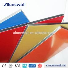 Decoración de pared colorida que cubre los paneles ACP acm panel compuesto de aluminio