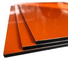 Panel compuesto de aluminio firme con superficie brillante