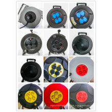 4x16A sockets Germany IP44 rubber Cable Reel, Schuko H07RN-F rubber extension cord reel 40m 50M