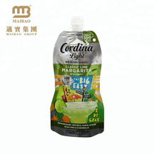 Sacs d'emballage de jus de fruits en plastique standard avec bec